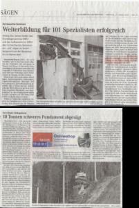 Betonsägen Allgäu Presseartikel