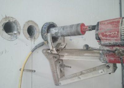 Kernbohrung Druchmesser 100 mm mit Absaugung