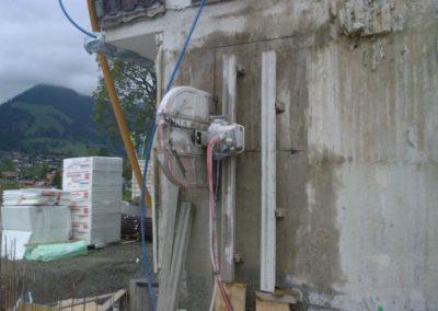 Sägen einer Türöffnung mittels Wandsägen
